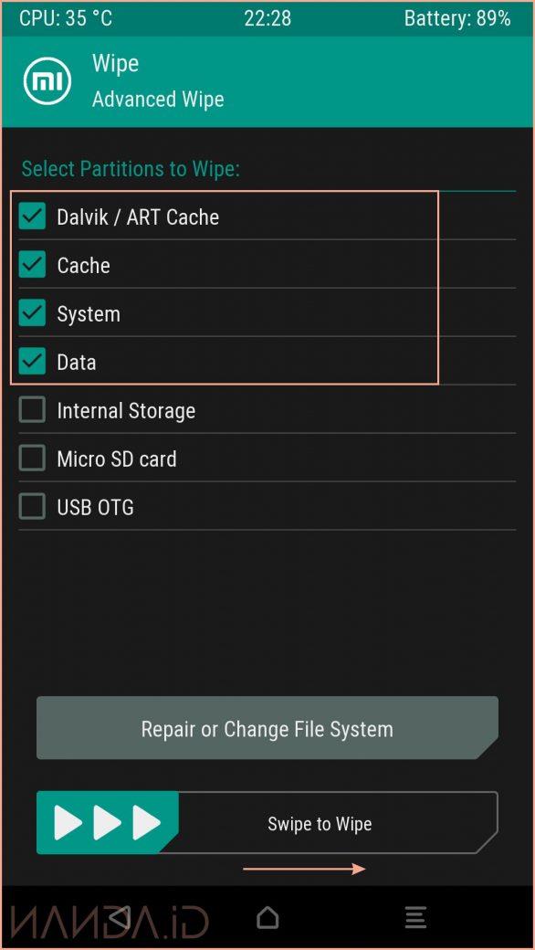 Tutorial Install ROM Pixel Experience Pie 9.0 Mi 5X Tiffany
