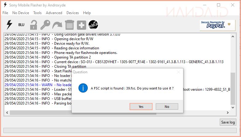 Cara Flashing Sony Xperia XZ Docomo SO-01J