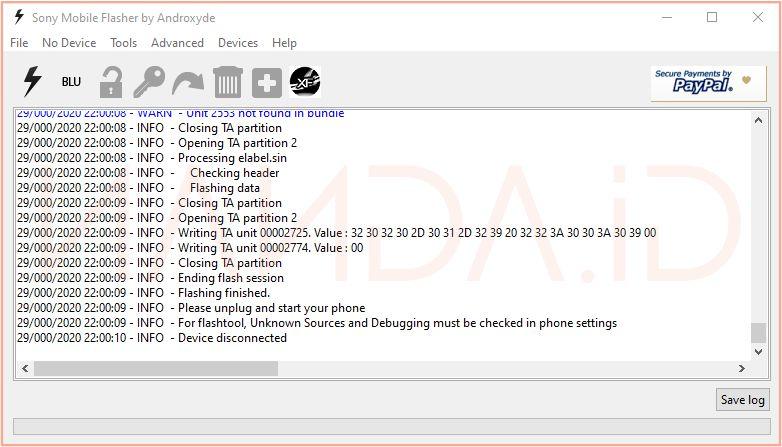 Tutorial Flash (Instal Ulang) Sony Xperia semua tipe menggunakan Flashtool